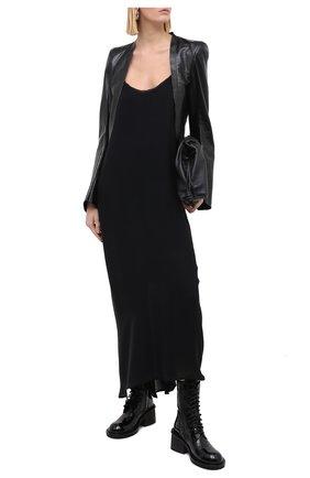 Женские кожаные ботинки ANN DEMEULEMEESTER черного цвета, арт. 2014-2828-389-099 | Фото 2