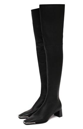 Женские кожаные ботфорты ALEXANDER WANG черного цвета, арт. 30C220B084 | Фото 1
