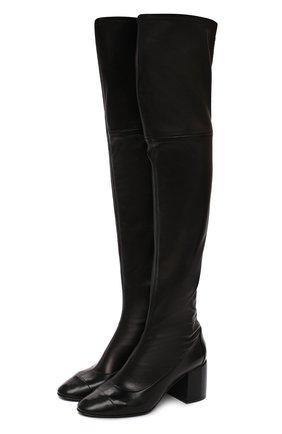 Женские кожаные ботфорты CASADEI черного цвета, арт. 1T932N0601T02389000 | Фото 1
