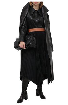 Женские кожаные ботфорты CASADEI черного цвета, арт. 1T932N0601T02389000 | Фото 2