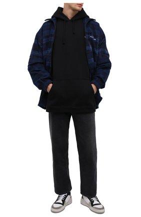 Мужские кожаные кеды sl24 SAINT LAURENT белого цвета, арт. 610618/1JZB0   Фото 2