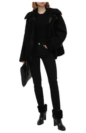 Женские кожаные ботильоны TOM FORD черного цвета, арт. W2744T-LCL109 | Фото 2