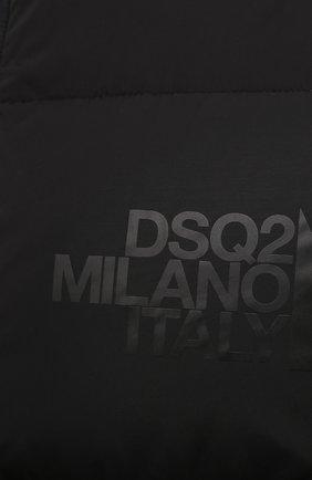 Мужской пуховый бомбер DSQUARED2 черного цвета, арт. S74AM1085/S53140 | Фото 5