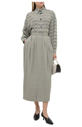 Женская юбка VIKA GAZINSKAYA серого цвета, арт. FW20-1835 | Фото 2