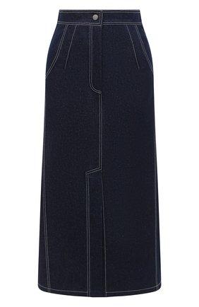 Женская джинсовая юбка VIKA GAZINSKAYA синего цвета, арт. FW20-1836 | Фото 1
