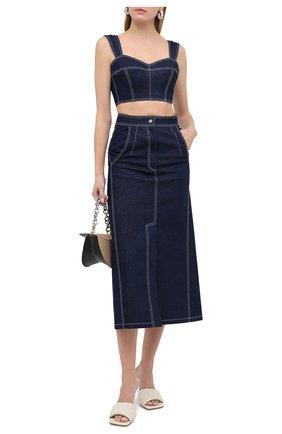 Женская джинсовая юбка VIKA GAZINSKAYA синего цвета, арт. FW20-1836 | Фото 2