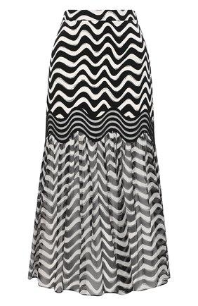 Женская шелковая юбка STELLA MCCARTNEY черно-белого цвета, арт. 601712/SPA10 | Фото 1
