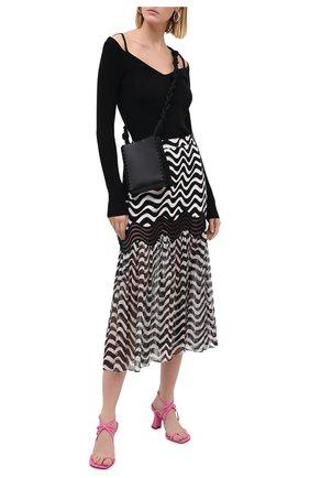 Женская шелковая юбка STELLA MCCARTNEY черно-белого цвета, арт. 601712/SPA10 | Фото 2