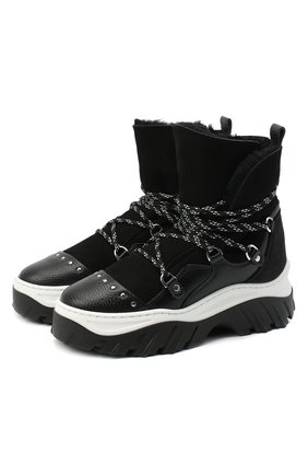 Женские замшевые ботинки INUIKII черного цвета, арт. 70202-117 | Фото 1