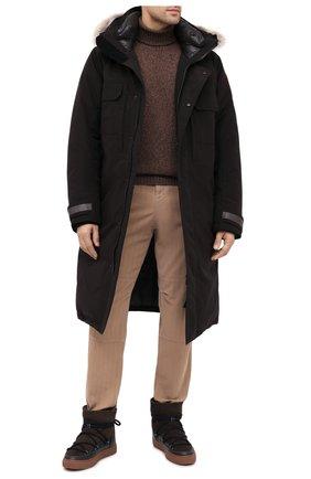 Мужские замшевые сапоги INUIKII коричневого цвета, арт. 50202-1 | Фото 2