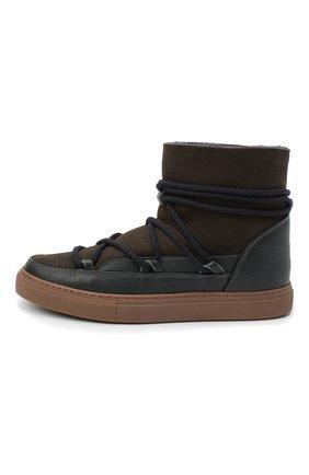 Мужские замшевые сапоги INUIKII коричневого цвета, арт. 50202-1 | Фото 3 (Материал утеплителя: Натуральный мех; Мужское Кросс-КТ: зимние сапоги, Сапоги-обувь; Подошва: Массивная; Материал внешний: Замша)