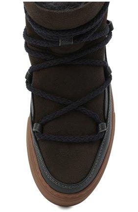 Мужские замшевые сапоги INUIKII коричневого цвета, арт. 50202-1 | Фото 5 (Материал утеплителя: Натуральный мех; Мужское Кросс-КТ: зимние сапоги, Сапоги-обувь; Подошва: Массивная; Материал внешний: Замша)