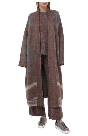 Женские кожаные кеды SANTONI серого цвета, арт. WBCE60442BARGIIHG62   Фото 2