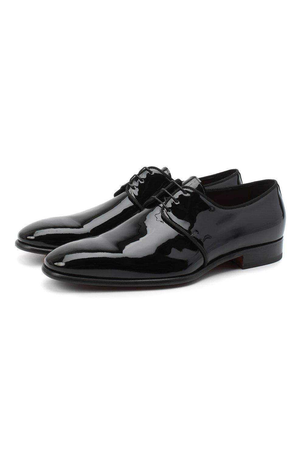 Мужские кожаные дерби SANTONI черного цвета, арт. MCNM14667BB3FVERN01 | Фото 1