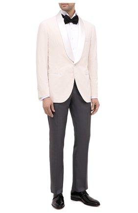 Мужские кожаные дерби SANTONI черного цвета, арт. MCNM14667BB3FVERN01 | Фото 2