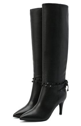 Женские кожаные сапоги rockstud flair VALENTINO черного цвета, арт. UW2S0Z36/MLR | Фото 1