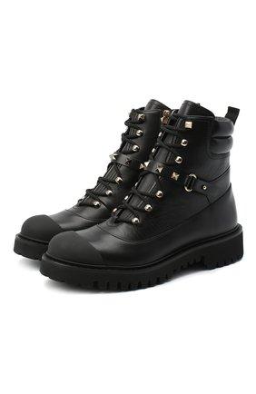 Женские кожаные ботинки valentino garavani rockstud VALENTINO черного цвета, арт. UW2S0R66/GNW | Фото 1