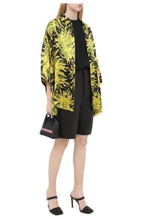 Женская шелковая блузка BALENCIAGA желтого цвета, арт. 595038/TJL16   Фото 2