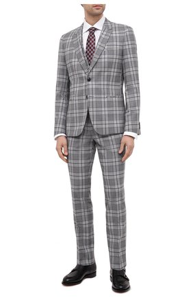 Мужской шерстяной костюм-тройка HUGO серого цвета, арт. 50440155 | Фото 1