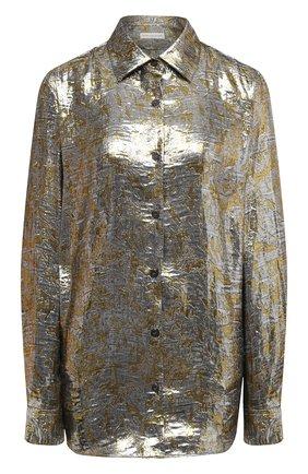 Женская блузка DRIES VAN NOTEN серебряного цвета, арт. 202-10772-1347 | Фото 1