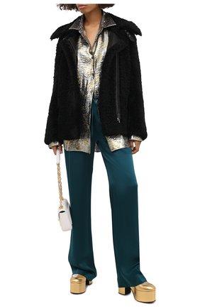 Женская блузка DRIES VAN NOTEN серебряного цвета, арт. 202-10772-1347 | Фото 2
