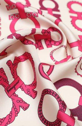 Женский шелковый платок SALVATORE FERRAGAMO разноцветного цвета, арт. Z-0735077   Фото 2