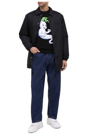 Мужской хлопковый свитшот DOM REBEL черного цвета, арт. SH0ST/SWEATSHIRT   Фото 2