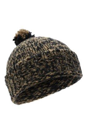 Мужская шерстяная шапка DRIES VAN NOTEN хаки цвета, арт. 202-22204-1704   Фото 1