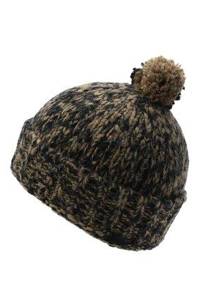 Мужская шерстяная шапка DRIES VAN NOTEN хаки цвета, арт. 202-22204-1704   Фото 2