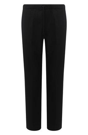 Мужской брюки из хлопка и шерсти DRIES VAN NOTEN черного цвета, арт. 202-20939-1285 | Фото 1