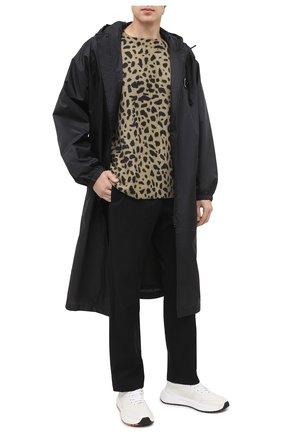 Мужской брюки из хлопка и шерсти DRIES VAN NOTEN черного цвета, арт. 202-20939-1285 | Фото 2