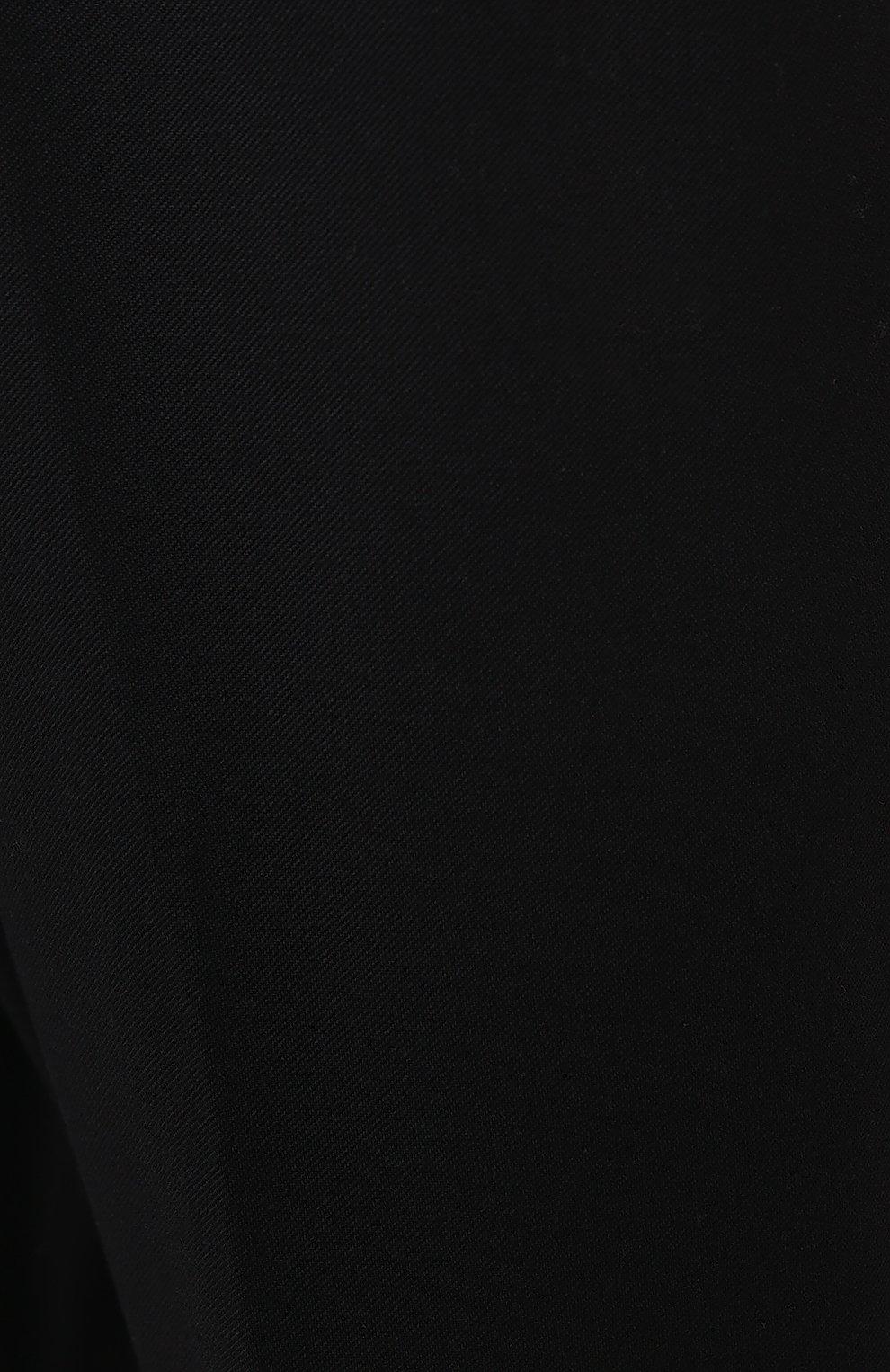 Мужские брюки из хлопка и шерсти DRIES VAN NOTEN черного цвета, арт. 202-20939-1285 | Фото 5 (Материал внешний: Шерсть, Хлопок; Длина (брюки, джинсы): Стандартные; Случай: Повседневный; Стили: Кэжуэл)