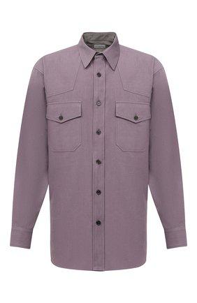 Мужская хлопковая рубашка DRIES VAN NOTEN сиреневого цвета, арт. 202-20719-1273 | Фото 1
