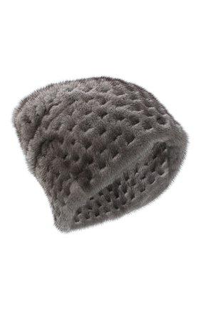 Женская шапка из меха норки KUSSENKOVV темно-серого цвета, арт. 70600010675 | Фото 1