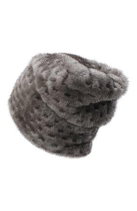 Женская шапка из меха норки KUSSENKOVV темно-серого цвета, арт. 70600010675 | Фото 2