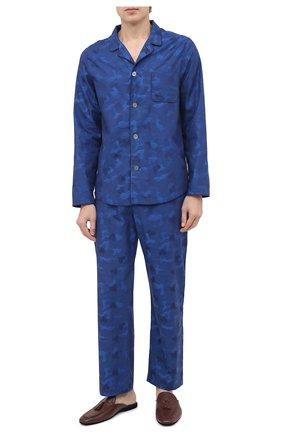 Мужская хлопковая пижама DEREK ROSE темно-синего цвета, арт. 5065-PARI018 | Фото 1