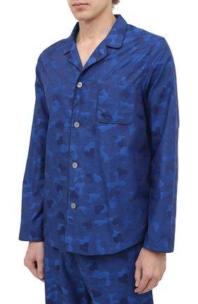 Мужская хлопковая пижама DEREK ROSE темно-синего цвета, арт. 5065-PARI018 | Фото 2