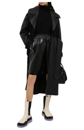 Женские кожаные ботинки bv tire BOTTEGA VENETA светло-бежевого цвета, арт. 630297/VBS50 | Фото 2