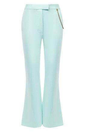 Женские брюки из вискозы GIVENCHY светло-зеленого цвета, арт. BW50MH4Z76 | Фото 1