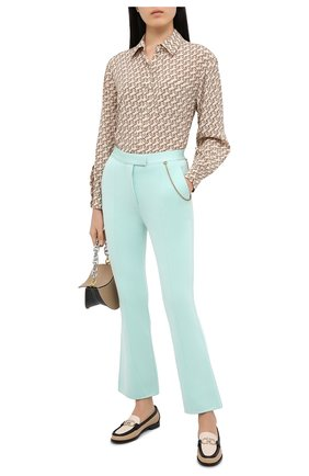 Женские брюки из вискозы GIVENCHY светло-зеленого цвета, арт. BW50MH4Z76 | Фото 2