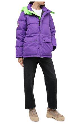 Женский пуховик gaz ARCTIC EXPLORER фиолетового цвета, арт. GAZ_PURPLE_W | Фото 2