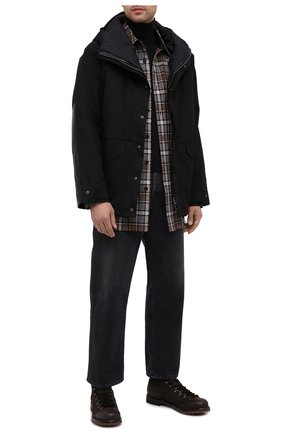 Мужская пуховая куртка DANIELE BASTA черного цвета, арт. DB729T19X25CF/GHANA TEX CF | Фото 2
