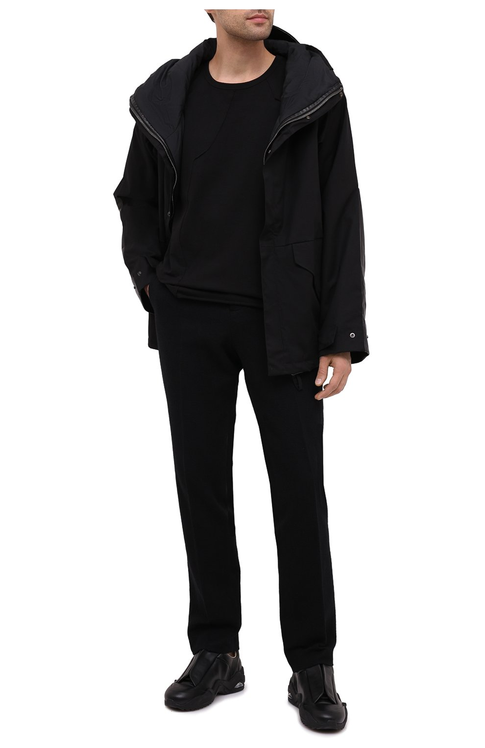 Мужская пуховая куртка DANIELE BASTA черного цвета, арт. DB729T19X25CF/GHANA TEX CF | Фото 3