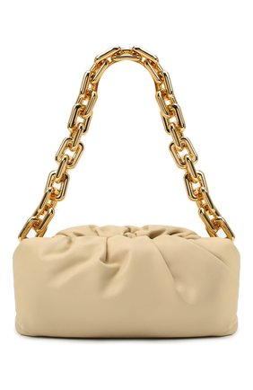 Женская сумка chain pouch BOTTEGA VENETA светло-бежевого цвета, арт. 620230/VCP40 | Фото 1