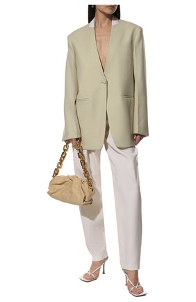 Женская сумка chain pouch BOTTEGA VENETA светло-бежевого цвета, арт. 620230/VCP40 | Фото 3
