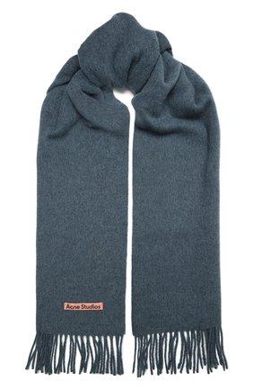 Мужской шерстяной шарф ACNE STUDIOS синего цвета, арт. CA0086/M | Фото 1