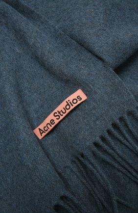 Мужской шерстяной шарф ACNE STUDIOS синего цвета, арт. CA0086/M | Фото 2