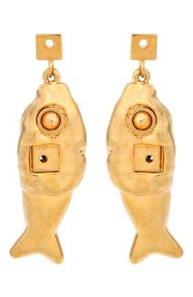 Женские серьги MARNI золотого цвета, арт. 0RMV0204A0/M2000 | Фото 1