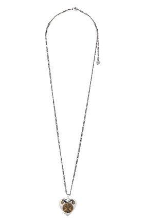 Женская кулон на цепочке ALEXANDER MCQUEEN серебряного цвета, арт. 640268/J160Z   Фото 1