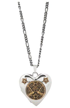 Женская кулон на цепочке ALEXANDER MCQUEEN серебряного цвета, арт. 640268/J160Z   Фото 2